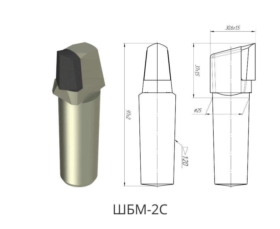 Резец породный ShBM-2S