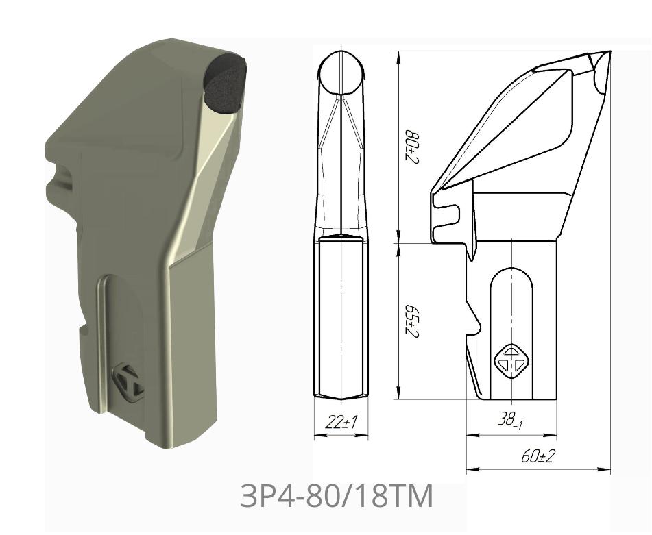 Резец радиальный ЗР4-80/18ТМ