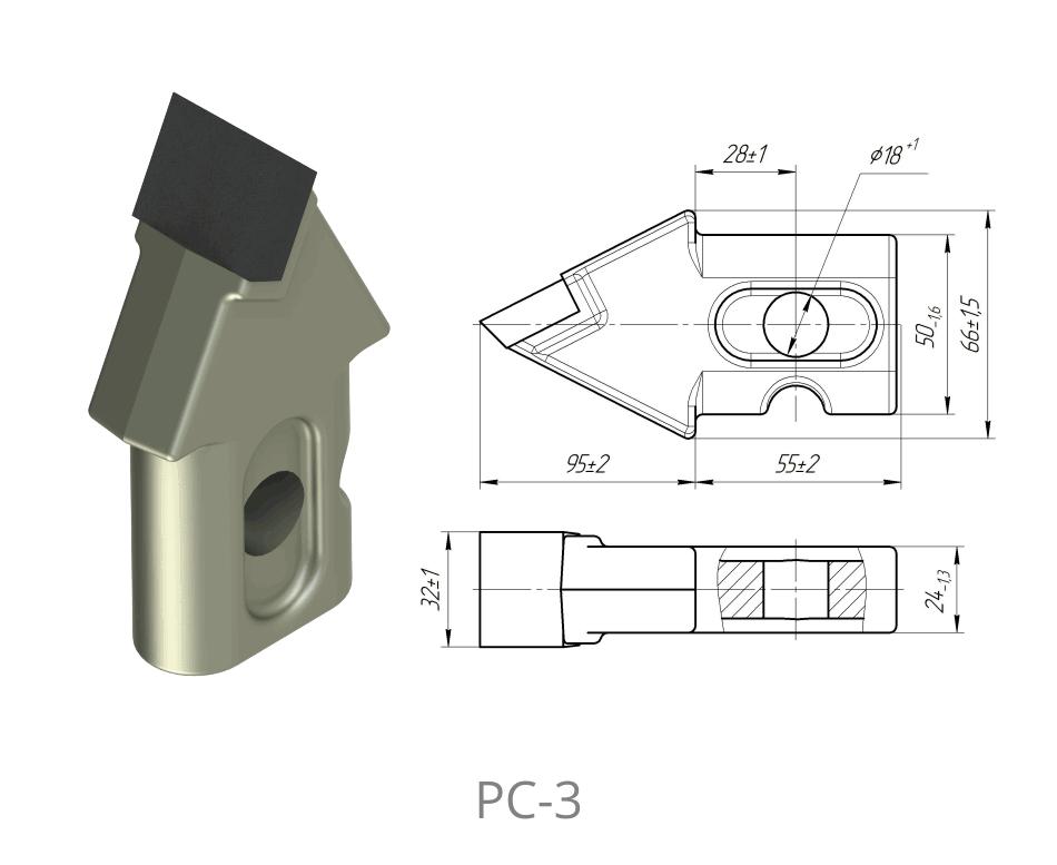 Резец cтруговый РС-3